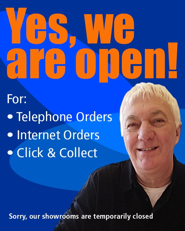 We are open for telephone orders, internet orders and click and collect.