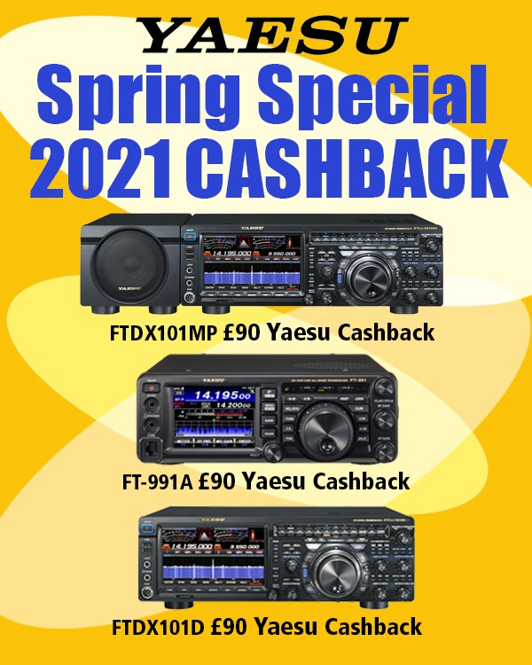 Yaesu cashbacks