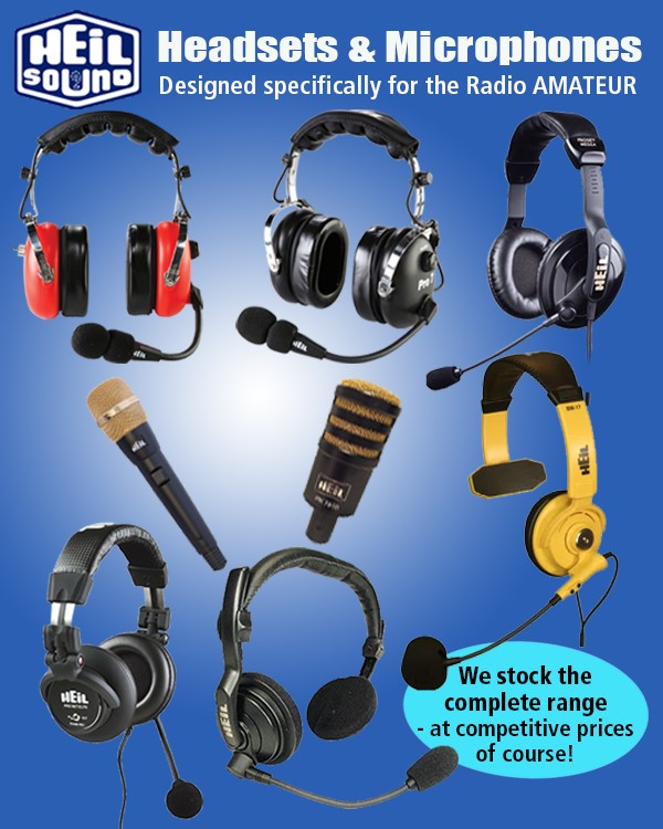 Heil Headsets and Microphones designed specifically for the Radio Amateur. We stock the complete range at competitive prices of course.