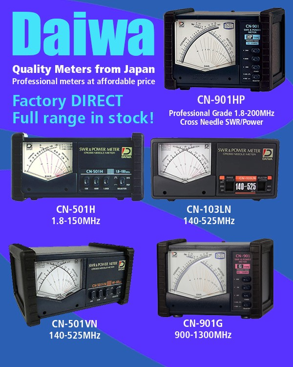 Daiwa quality meters from Japan