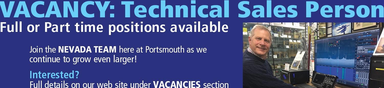 Technical sales vacancy